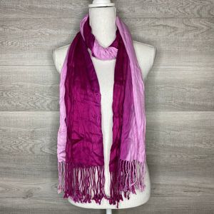Purple & Pink Scarf with Fringe